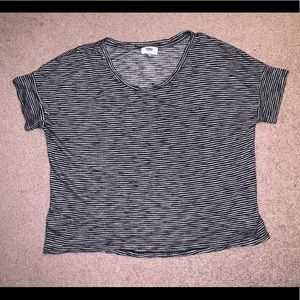 Old Navy striped tee shirt.